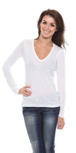 203014cb222c Ladies Calvin Klein Scoop Neck TShirt