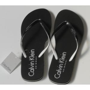 Black CK Flip Flops