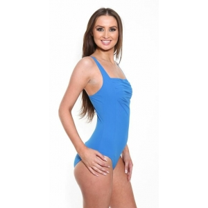 Blue Peated Swimsuit