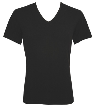 Calvin klein black v neck t shirt for V neck black t shirt