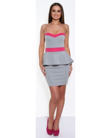 Grey And Pink Dress