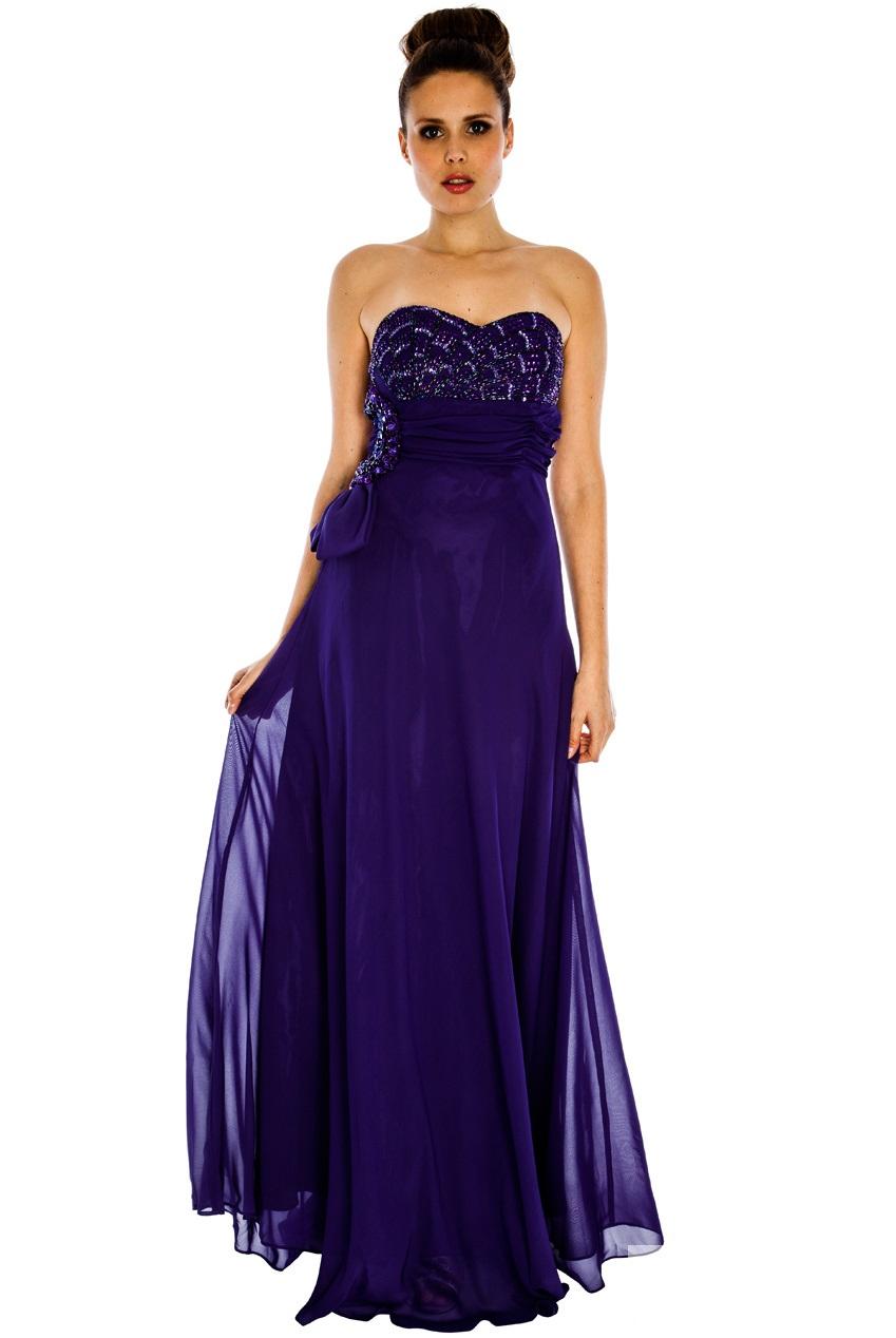 Elegant Deep Purple Dresses