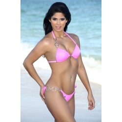 Pink Diamante Bikini