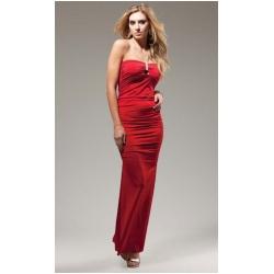 Red Floor Length Gown