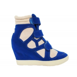Electric Blue/Beige Hi-Tops