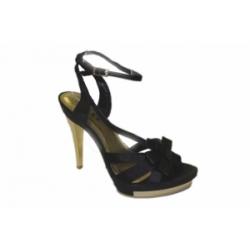 Fuchsia Satin Sandal