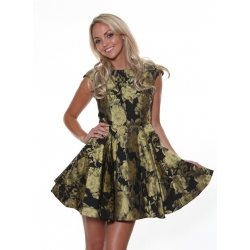 Doris Gold Dress