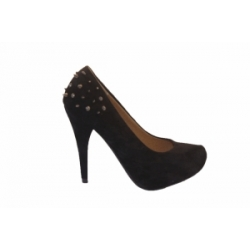 Black Studded Shoe