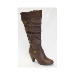 Brown PU Boot