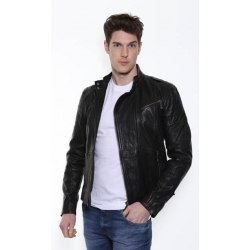 CK Black Leather Jacket