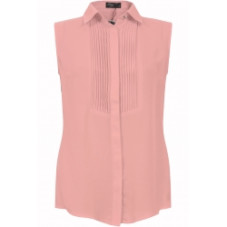 Peach Pleated Blouse