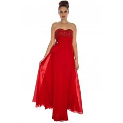 Bandeau Chiffon Maxi Dress