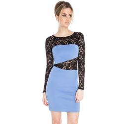 Lace Insert Bodycon Dress