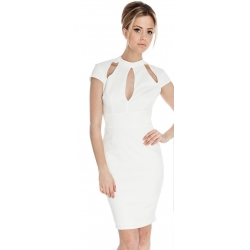 Cream Cut out Dress