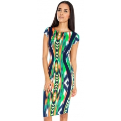 Multicoloured Midi Dress