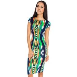 Multicoloured Midi Dress