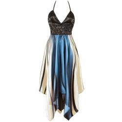 Handkerchief Halter Neck Dress