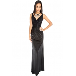 Black Satin Maxi Dress