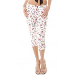 Floral Capri Jeans