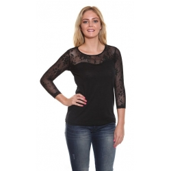 Ladies Pepe Jeans Black SieouxsieTop