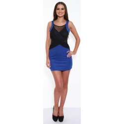 Tank Dress - Blue/Black