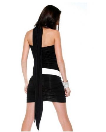 Black Four Way Dress Back