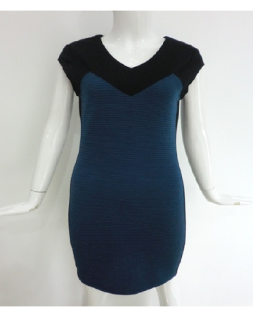 Blue & Black Dress