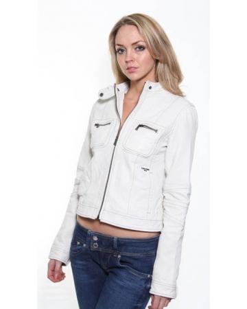 CK Cream Leather Jacket