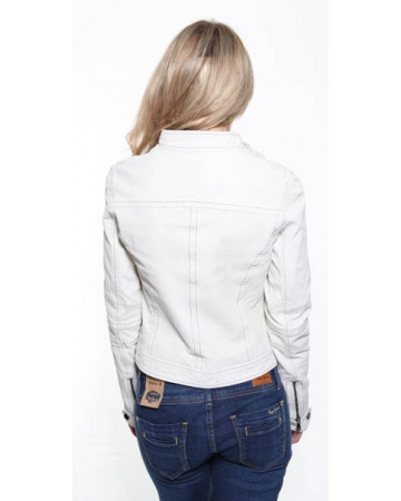 Calvin Klein Cream Leather Jacket