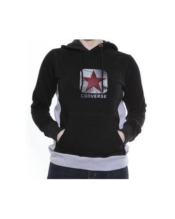 Ladies Converse Red Star Hoodie Black