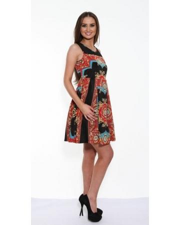 Kash Royal Print Dress