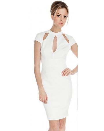 Cream Cut out Dress