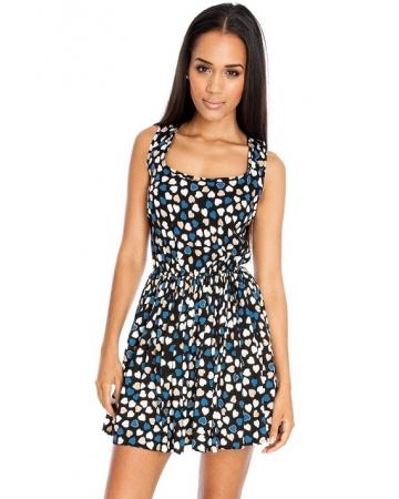 Heart Print Summer Dress