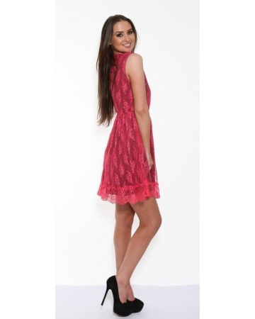 Pink Lace Angeleye Dress