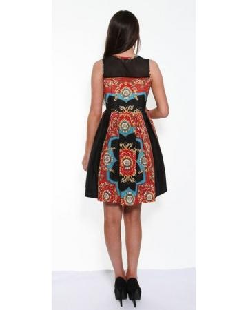 Black Royal print Dress